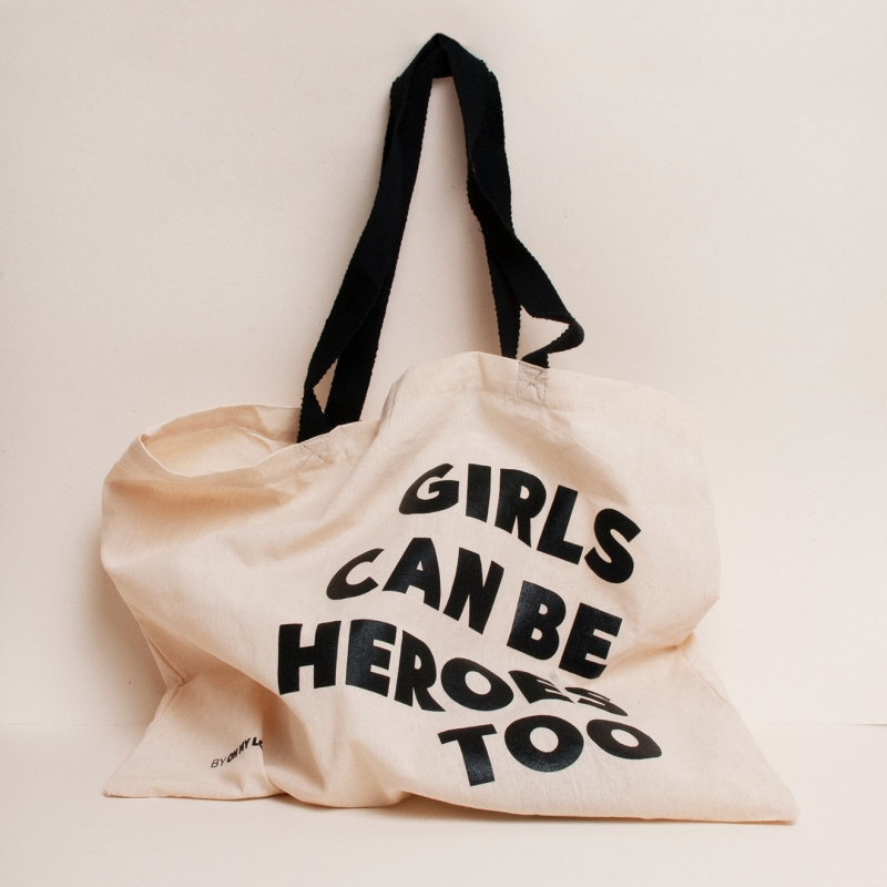 Шопер GIRLS CAN BE HEROES TOO
